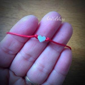 Jewelry - Dainty Heart Adjustable Wax Cord Bracelet